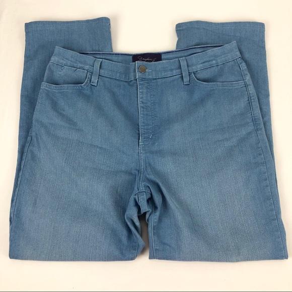 NYDJ Denim - NYDJ Straight Leg Custom Hem Jeans - Size 16